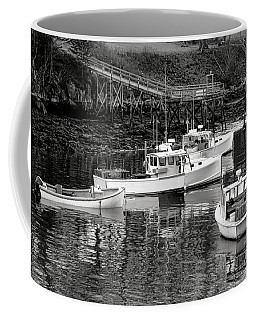 Coffee Mug featuring the photograph Fishing Boats In Maine Port by Olivier Le Queinec