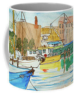 Fishing Boats In Hobart's Victoria Dock Coffee Mug