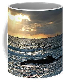 Fishing Boats Off Point Lobos Coffee Mug
