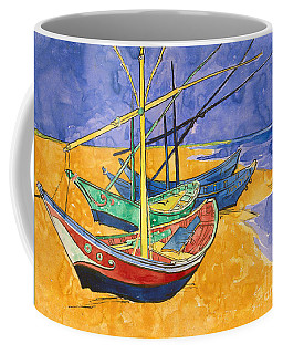 Fishing Boats On The Beach At Saintes Maries De La Mer Coffee Mug