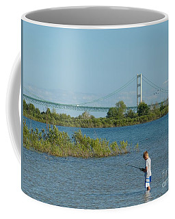 Fishing By The Macinac Coffee Mug