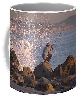 Coffee Mug featuring the photograph Fishing by Chris Tarpening