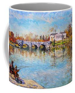 Fishing Day By Delaware Lake Buffalo Coffee Mug
