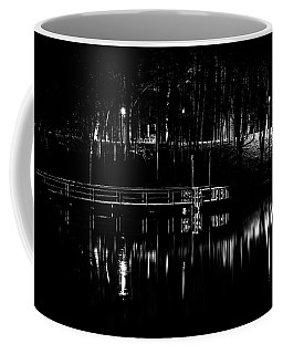 Coffee Mug featuring the photograph Fishing Dock At Night 2017  by Thomas Young