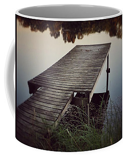 Fishing Dock Coffee Mug by Karen Stahlros