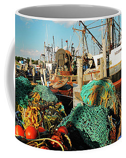Fishing Fleet Coffee Mug by James Kirkikis