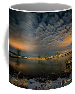 Fishing Hole At Night Coffee Mug
