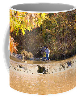 Fishing In Fall Coffee Mug by Sheila Brown