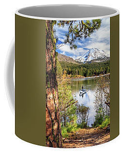 Coffee Mug featuring the photograph Fishing In Manzanita Lake by James Eddy