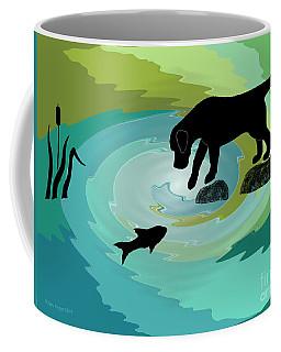 Fishing Labrador Dog Coffee Mug