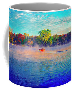 Fishing On Crystal Lake, Il., Sport, Fall Coffee Mug