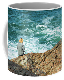 Fishing On Mutton Bird Island Coffee Mug