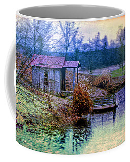 Coffee Mug featuring the digital art Fishing Paradise by Bonnie Willis