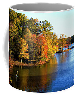 Fishing Pier At Charlie Elliott Wildlife Center Coffee Mug by Barbara Bowen