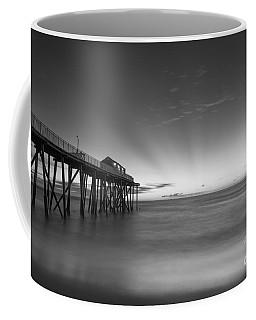 Fishing Pier Sun Rays Bw Coffee Mug