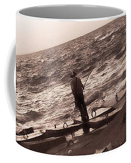 Men Fishing, Alexandria, Egypt Coffee Mug
