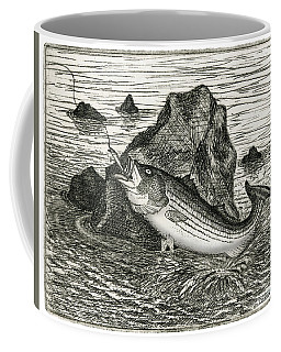 Coffee Mug featuring the photograph Fishing The Rocks by Charles Harden