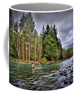 Fishing The Run Coffee Mug