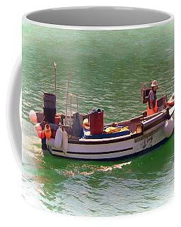Coffee Mug featuring the digital art Fishing Vessel  by Paul Gulliver