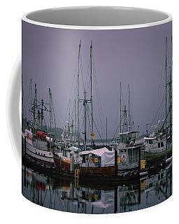 Fishing Wharf In Clearing Mist Coffee Mug