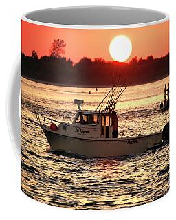 Fishing With Friends At Long Beach Island Coffee Mug