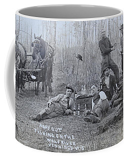 Fishing With The Boys Coffee Mug by Tammy Schneider