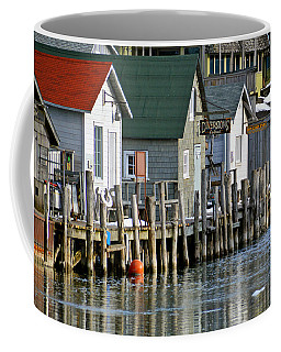 Coffee Mug featuring the photograph Fishtown In Leland by SimplyCMB