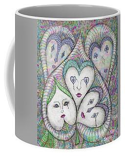 Coffee Mug featuring the photograph Five Elizabethan Ladies by Nareeta Martin