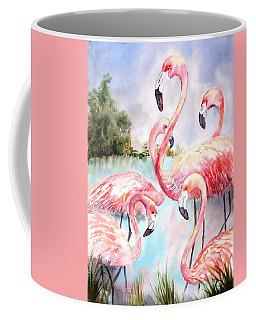 Five Flamingos Coffee Mug