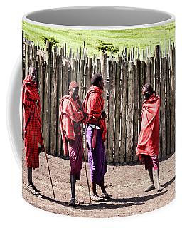 Five Maasai Warriors Coffee Mug