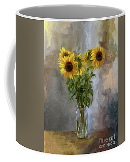 Five Sunflowers Centered Coffee Mug