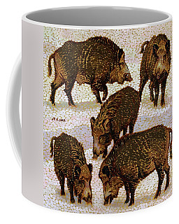 Five Wild Boars Coffee Mug