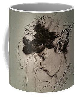 Fixing Hat Up Close Coffee Mug