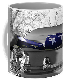 Flag For The Fallen - Selective Color Coffee Mug by Al Powell Photography USA