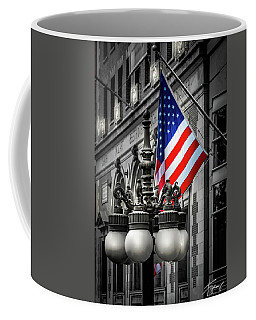 Flag In Chicago Coffee Mug