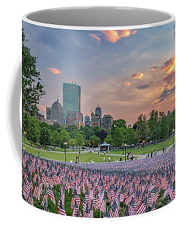 Flag Sunset On Boston Common Coffee Mug