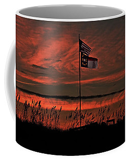 Flags And Sea Oats Coffee Mug