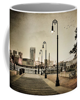 Coffee Mug featuring the photograph Flagship Wharf - Boston Harbor by Joann Vitali