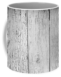 Flaking Grey Wood Paint Coffee Mug by John Williams