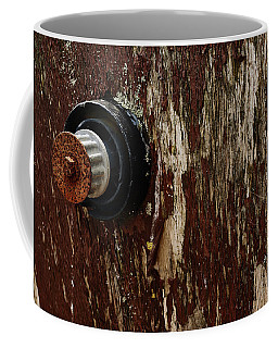 Coffee Mug featuring the photograph Flaking Paint by Keith Elliott