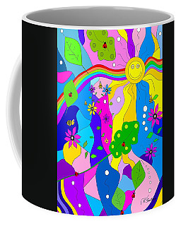 Flamboyant Lion - Animal Art Coffee Mug