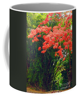 Coffee Mug featuring the photograph Flamboyant With Bamboo by The Art of Alice Terrill