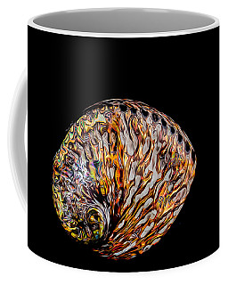 Coffee Mug featuring the photograph Flame Abalone by Rikk Flohr