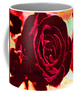 Flame Painted Rose Coffee Mug by Samantha Thome