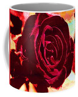 Flame Painted Rose Coffee Mug
