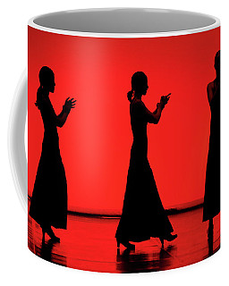 Flamenco Red An Black Spanish Passion For Dance And Rithm Coffee Mug by Pedro Cardona