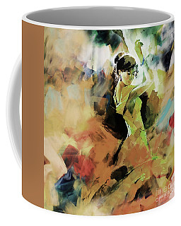Coffee Mug featuring the painting Flamenco 56y3 by Gull G
