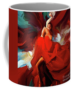 Coffee Mug featuring the painting Flamenco Dance 7750 by Gull G