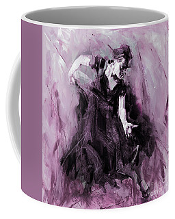 Coffee Mug featuring the painting Flamenco Spanish Dance Art by Gull G