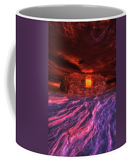 Coffee Mug featuring the photograph Flaming Aztec House by Darren White